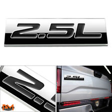 """2.5L"" Polished Metal 3D Decal Black Emblem For Subaru/Nissan/Renault/Toyota"