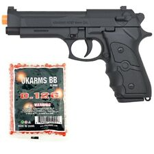 New listing FULL SIZE M9 92 FS BERETTA SPRING AIRSOFT PISTOL HAND GUN w/ 1000 6mm BB BBs