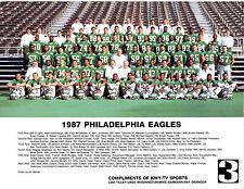 1987 PHILADELPHIA EAGLES TEAM 8X10  PHOTO  WHITE GOLIC  FOOTBALL NFL USA