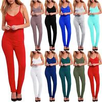 Women Celebrity Cap Sleeve Keyhole Jersey Ladies All In One Playsuit Jumpsuit