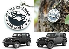 """Not All Who Wander Are Lost"" Jeep Keychain Gift Present New Free Shipping USA"