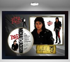Michael Jackson AND BAD CD Disc Presentation Display SIGNED FRAMED PHOTO