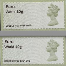 Unique Euro ?? BLANK ERROR 3Day only POST & GO Bradford MOUNT PLEASANT EO Machin