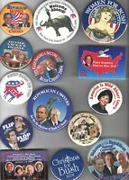 2000 - 2005 George W. BUSH pin Campaign Inauguration Etc pinback 27 UNUSUAL