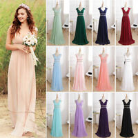 Ever Pretty UK Long Evening Gowns Formal V-neck Chiffon Bridesmaid Dresses 08697