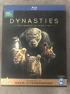 David Attenborough Dynasties Blu Ray With SLIPCASE New Sealed UK Release