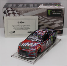 SIGNED 2017 KURT BUSCH #41 HAAS MONSTER DAYTONA RACE WIN AUTOGRAPHED 1/24 CAR