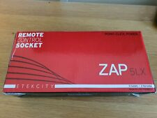 ZAP 5LX Remote Control Mains Socket Set Plug In 5 Outlets 2 Remotes Wireless 13A