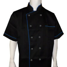 Men Women Chef Coat Restaurant Uniform Short Sleeve Chef Coat Kitchen Chef Coat