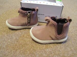 Stride Rite Lil Tabor Boys Size 1 or 3 Brown Boots Shoes New in Box