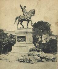 Postcard Statua equestre a G. Garibaldi Palermo Sicily Italy Garibaldi Monument