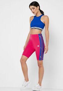 new Adidas originals Women's XL Cycling Shorts Floral Rose ED4767 NWT $50