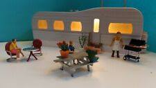 Mth Rail king Lighted Steel Mobil Home Item #30-90005 With Family (All Included)