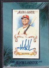 2015 Allen & Ginter MATT ADAMS auto autograph framed mini Cardinals