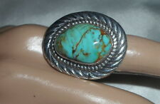 With Turquoise Hallmarked Southwest Hvy. Sterling Ring