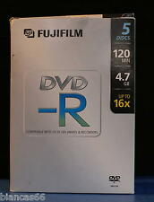 *** PACK DE QUATRE DVD-R 4.7GB VIERGES FUJIFILM  - BOITES VIDEO ***