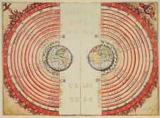 CONCEPT OF UNIVERSE 1568 Antique Map Rolled Canvas Giclee Print 30x24 in.