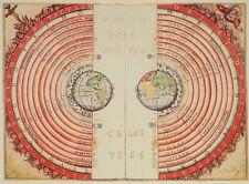 CONCEPT OF UNIVERSE, 1568 Vintage Map Reproduction Premium CANVAS PRINT 31x24 in