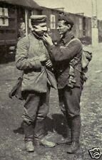 """British Soldier With German Prisoner of War World War 1, 6x4"""" Reprint Photo"""