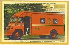 Advertising Postcard - Fire Control Equipment Truck