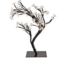 Modern 48 LED Cherry Blossom Rose bonsai Fata Ramoscello Luci Lampade da tavolo