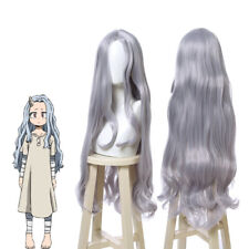 My Hero Academia ERI Cosplay Wig Long Gray Wavy Curly Hair Women Anime Wigs