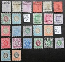 GB SOMALILAND PROTECTORATE 1903 - 1912 fine lot LMM / UM CV > £ 100