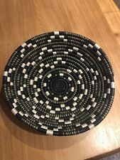 African Woven Bowl Basket Wall Hanging
