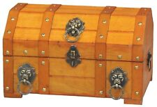 New Vintiquewise Pirate Treasure Chest with Lion Rings, QI003032