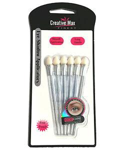 Creative Max Finest - 6 Long Handle Soft Sponge Eyeshadow Applicators