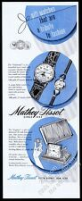 1947 Mathey-Tissot Calamatic man's moon phase watch vintage print ad