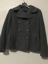 Banana Republic Gray Coat Jacket 83% Wool Women Size PL Winter Stylish Modern