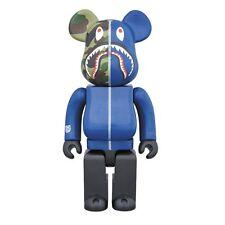 Medicom Toy Be@rbrick Bearbrick BAPE CAMO SHARK Navy 1000% WGM ape in hand