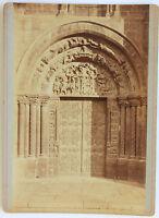 Abbaye Basilica Saint-Denis Porta Meridionale Vintage Albumina 1880