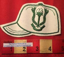 Baseball / Softball Jacket Patch ~ Green Flame / Torch & Laurel Wreath Logo 5NB6