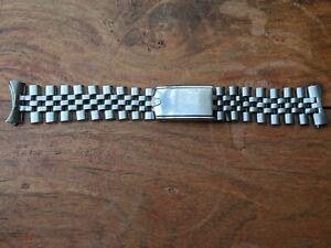 Vintage 1960's Rolex U.S.A. 19 mm Oval Link Jubilee Bracelet w/18 Links