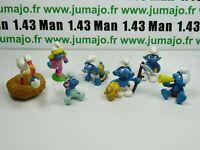 LOT5 Figurine PVC schleich : 6 SCHTROUMPF smurf puffi pituffo
