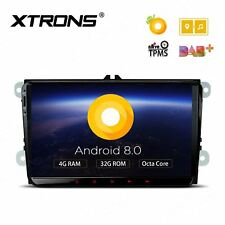 "XTRONS 9"" Android 8.0 Car Stereo GPS Sat Nav 4GB+32GB for VW Golf MK5 MK6 Jetta"
