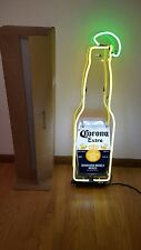 (L@K) Corona Beer Bottle With Lime Neon Light Up Sign Man Cave Bar Pub Mib