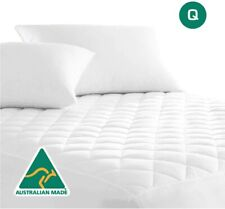 Australian Made Cotton Quilted Mattress Protector Topper Bedding Queen Bed Soft
