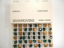 48 swarovski rhinestones,47ss emerald #1100
