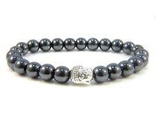 Mens Bracelets Beaded Bracelet Gemstone Beads For Men Beads Hematite Buddha