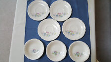 Vintage Antique French Saxon China 4 Saucers & 3 Dessert dishes