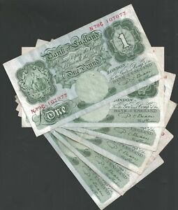 B268 BEALE 1950 ONE POUND £1 BANKNOTE - SELECT YOUR NOTE