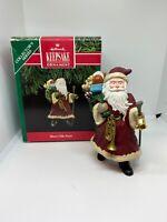 Merry Olde Santa Christmas Ornament Old World Folk Art Vintage 90s 1991