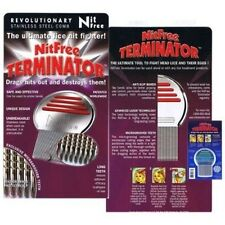 Nit Free Terminator Lice Comb Professonial Stainless Steel Head Lice Treatment