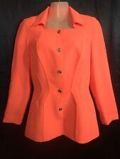 Rare! Vintage Thierry Mugler Paris Couture Pink Salmon Jacket Size 38 / US 6