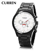 CURREN Men Business Multi-function Date Steel Strap Quartz Watch Wristwatch New