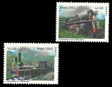 Trains Brazil  2002 Stamps - Zug lest 火车 列車 गाड़ी поезд tåg đào tạo tog vonat 기차