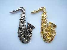 SAXOPHONE TENOR SAX FUNK SOUL BAND ACID JAZZ MUSIC VINTAGE X2 PIN BADGE LOT 99p